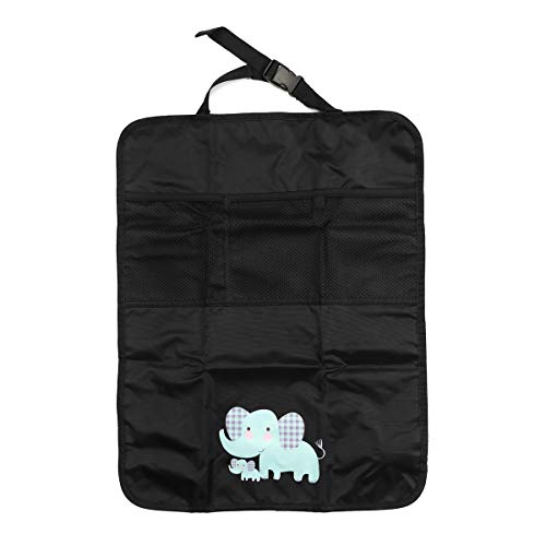 PeroFors 2 Unids Oxford Coche Interior Bebé Anti-Patada Almohadilla Cubierta Proteger Mat Asiento Trasero Almacenamiento De La Bolsa-Elefante