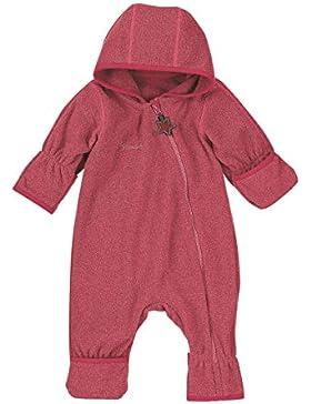 Sterntaler Baby Mädchen Fleece-Overall, Anzug in beerenrot Melange