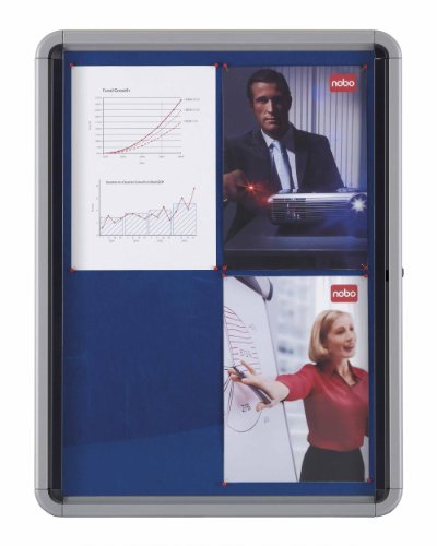 Nobo Internal Glazed Case with Fabric Surface Blue (9 x A4 Sheet Capacity)