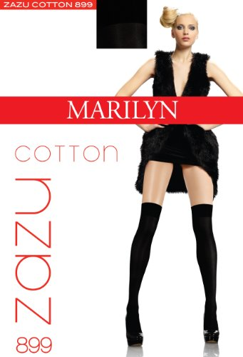 Marilyn blickdichte Overknees, 100 Denier, Größe 36/40 (one size), Farbe Grau (dark-melange)
