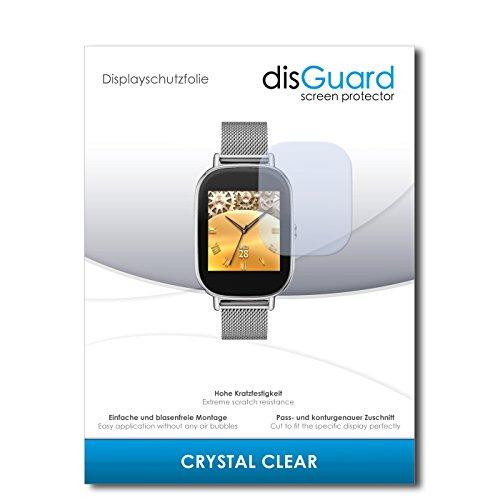 disGuard® Bildschirmschutzfolie [Crystal Clear] kompatibel mit Asus Zenwatch 2 WI502Q [4 Stück] Kristallklar, Transparent, Unsichtbar, Extrem Kratzfest, Anti-Fingerabdruck - Panzerglas Folie, Schutzfolie