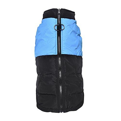 Lesypet Kälteschutzweste für mittlere und große Hunde mit Safe Guard Reißverschluss (Farbe Kostüme Guard)