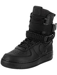 outlet store d0ebb c08fe Nike Damen SF Air Force 1 Schwarz Leder Stiefel 42.5