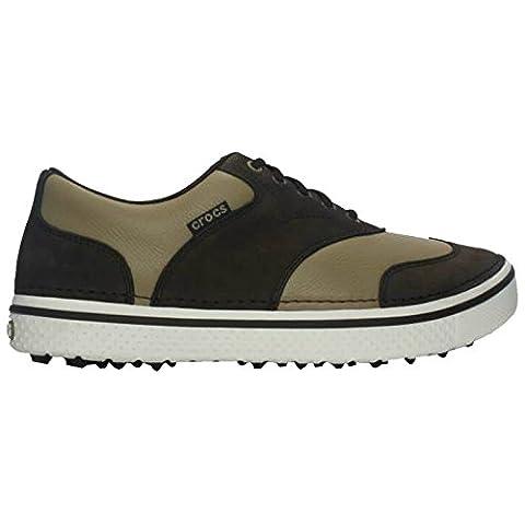 Crocs - Herren Golfschuhe Preston Ohne Spikes - EU 40 Breite Passform, Espresso / Khaki