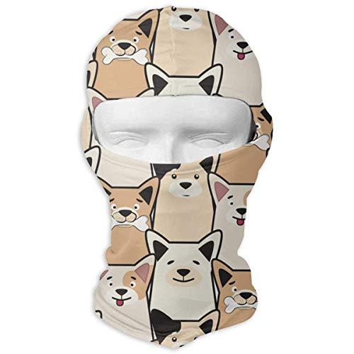 Wfispiy Volle Gesichtsmaske Mops Hund Cartoon Vektor Taktische Frauen Und Männer Bandana Stirnband Headwear