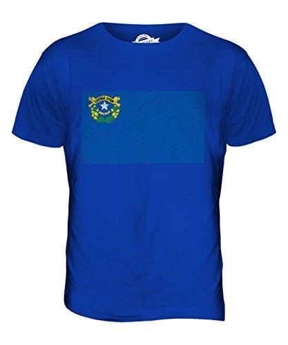 CandyMix Bundesstaat Nevada Kritzelte Flagge Herren T Shirt Königsblau