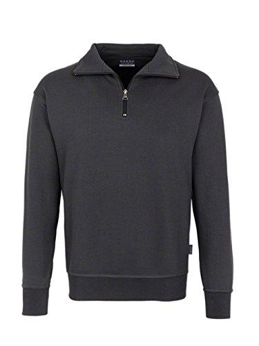 Hakro Zip-Sweatshirt Premium, anthrazit, 6XL