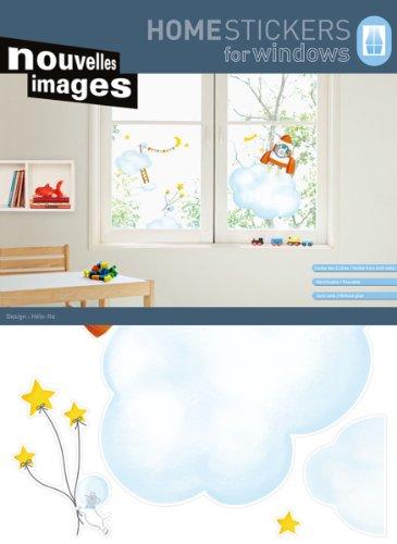 NOUVELLES IMAGES 170.001479.03 Sticker fenêtres, Papier, Multicolore, 69,5 x 49 x 0,1 cm