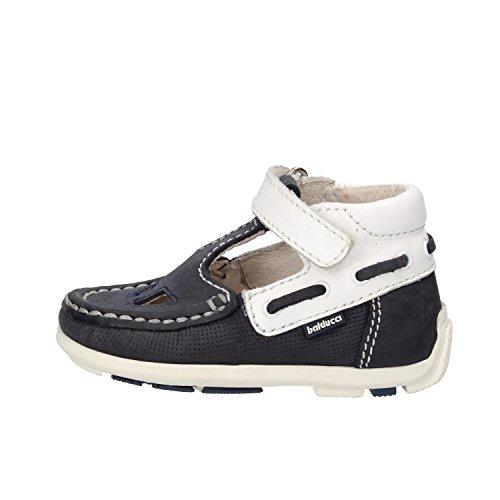 BALDUCCI 18 EU sandali bambino blu pelle scamosciata bianco pelle AF343