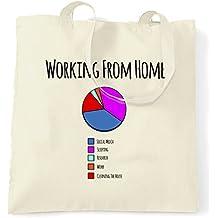 Lavoro a domicilio grafico a torta Procrastinate Libero professionista Logo Nerd Sacchetto Di Tote