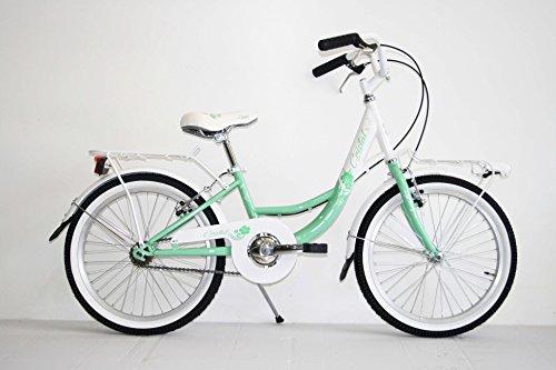 bici-bicicletta-classica-20-bambina-bimba-trekking-city-bike-monovelocita-olanda-verde