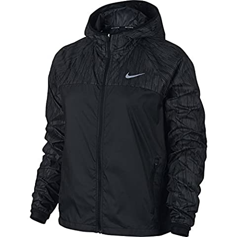 Nike Damen Shield Flash Jacke, Schwarz, M