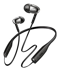 Philips SHB5950BK In-Ear Bluetooth Kopfhörer mit Mikrofon (Neckband, 7 Stunden Akku) schwarz