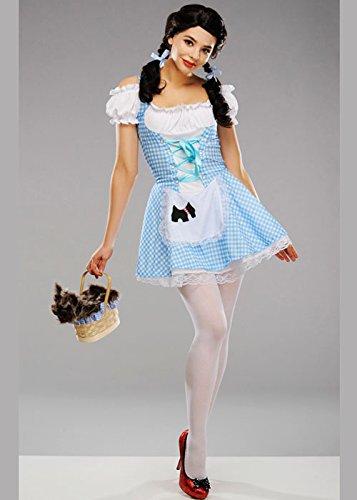 Dorothy Womens Adult Kostüm - Magic Box Int. Adult Womens Cute Dorothy Kostüm Medium (UK 12-14)