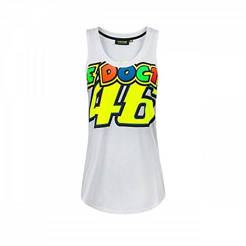 Valentino Rossi Vrwtt307106004, Tank Top, Vr46, The Doctor Damen, Weiß, XL 89 cm / 35 In Chest
