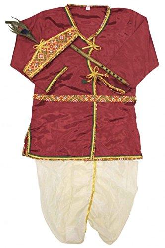 un und Cornsilk Jungen Krishna Anzug Indian Bollywood Fancy Dress 0 (< 1 year) (Fancy Dress Krishna Kostüm)