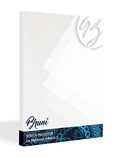 Bruni Schutzfolie für MyKronoz ZeWatch 2 Folie, glasklare Displayschutzfolie (2X)