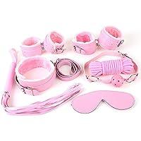 QISON 7PCS Pink Household Kit para Family Bondage Game Love Game Juego emocionante
