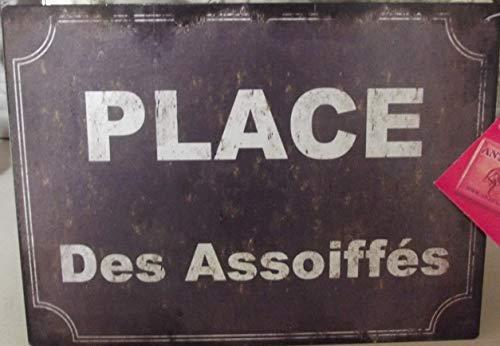 Antic Line Plaque Place des assoiffés 20 * 15 cm