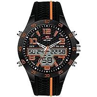 WULIFANG Der Dual Display Analog Digital Watch Fashion Men LED Wasserdicht Militär Sport Datum Ansehen