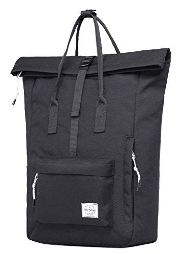 KAZIM Rolltop Rucksack Mode Reisetasche | Passend für 15,6-Zoll Laptop - Minimalistischer Rucksack