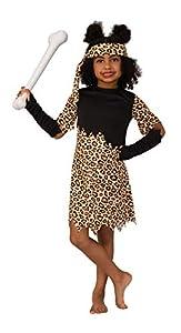Bristol Novelty Medium Disfraz de Cavegirl, color marrón, negro, 6-8 Años Old (CF223M)