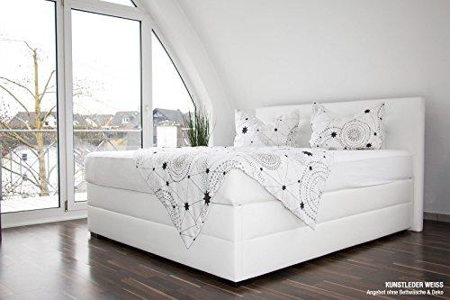 bellvita silverline Wasserbett BOXSPRING-Optik inkl. Lieferung & Aufbau durch Fachpersonal, 200cm x 220cm (Kunstleder weiß)