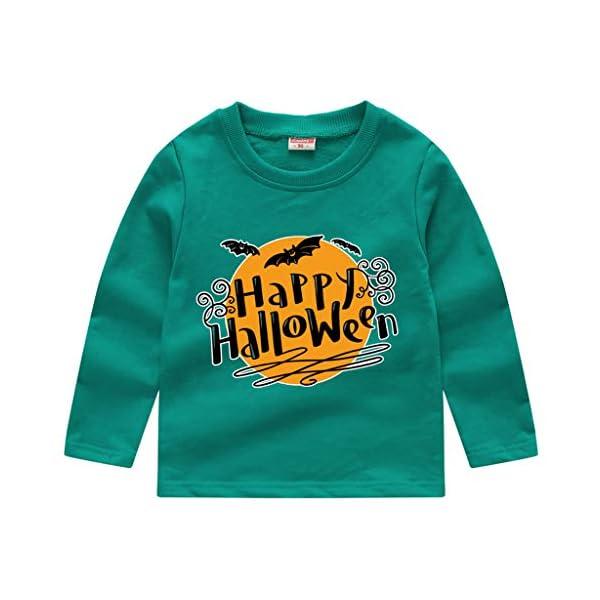 HAOHEYOU T Shirt Tops NiñIto Bebé NiñOs Muchachos Chicas VíSpera De Todos Los Santos ImpresióN Camisa De Entrenamiento… 4
