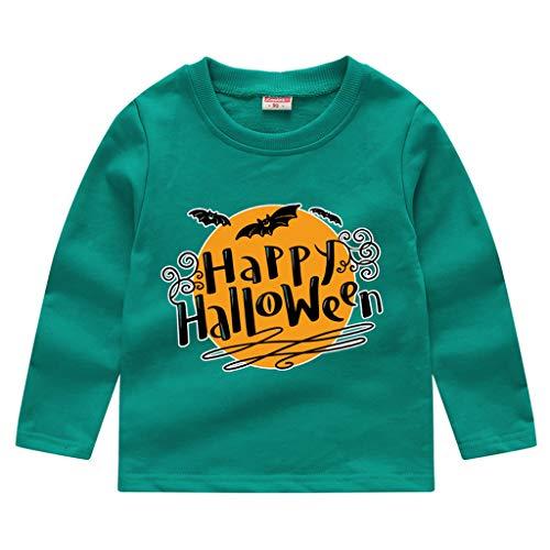 Flügel Eule Kostüm Machen - Dhyuen Kleinkind Baby Kinder Rundhals Langarmshirts Bluse Jungen Mädchen Halloween Print Sweatshirt Pullover Tops T-Shirt