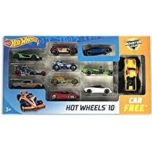 Hot Wheels 10 Car Gift Pack - Promo Set (10 Car Pack+ 1 Monster Jam Car Free), Color & Design May Vary