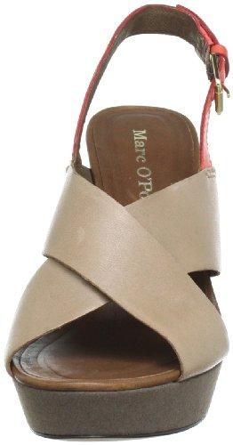 Marc O'Polo Cross Sandal 10921401162 Damen Sandalen Grau (taupe 717)