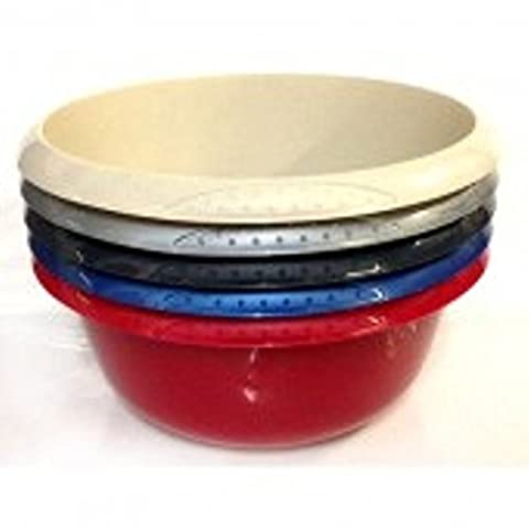 Round Bowl - 6 Litre - Choice of Colour - Perfect for Camping (Black)