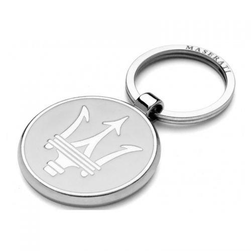 Maserati Schlüsselanhänger weiss Keyring Metall (Anhänger Cap)