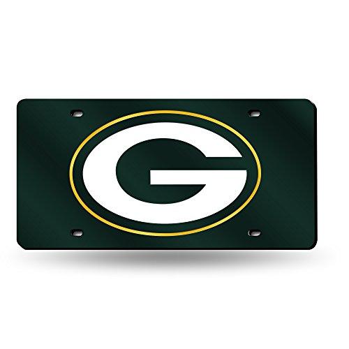 Unbekannt NFL Lasergeschnittene Auto Tag, Unisex, LZC3301, Green Bay Packers, Einheitsgröße - Tags Plate Frame