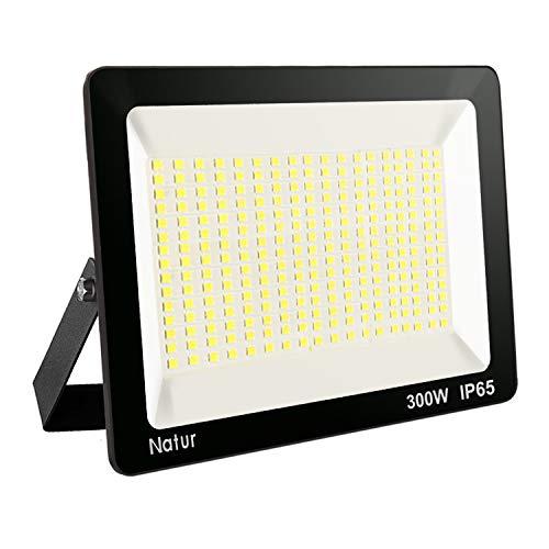 300W LED Strahler 3000K Außenleuchte Superhell LED Fluter Außenstrahler Flutlicht IP65 Flutlichtstrahler Scheinwerfer Licht für Garten, Garage,Sportplatz Energieklasse A++ -