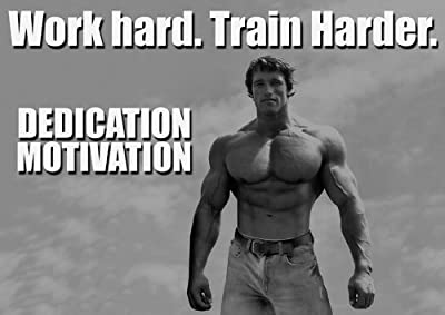 MOTIVATIONAL - arnold schwarzenegger - DEDICATION 17- A4 - BODY BUILING - GYM - Quote Sign Poster Print Picture, SPORTS, BOXING, CYCLING, ATHLETICS, BODYBUILDING, TRIATHLON, BASKETBALL, FOOTBALL, RUGBY, SWIMMING, BOXING, MARTIAL ARTS, GOLF, HOCKEY, SQUASH