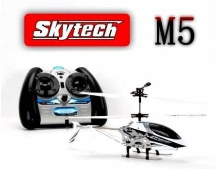 White M5 Helicopter with 3.5 Channel Remote Control by SkyTech -