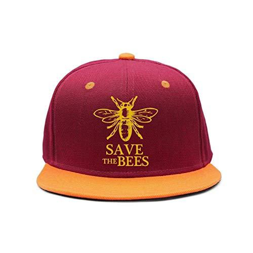 Voxpkrs Speichern Sie die Bees Flat-Brim Baseballmützen Unisex Snapback Adjustable Hat für Männer/Frauen DV862