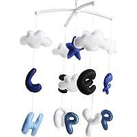 Baby-Bettwäsche musikalische mobile [glückliches Leben] handgemachtes Spielzeug preisvergleich bei kleinkindspielzeugpreise.eu