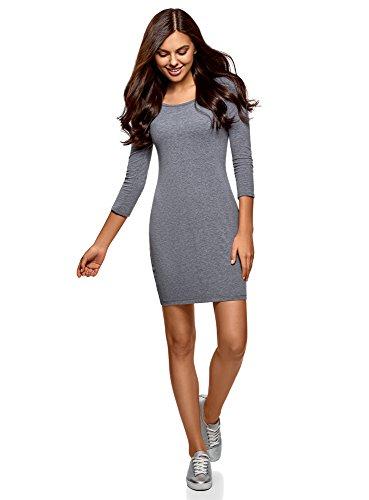 oodji Ultra Damen Enganliegendes Kleid (2er-Pack), Mehrfarbig, DE 36 / EU 38 / S