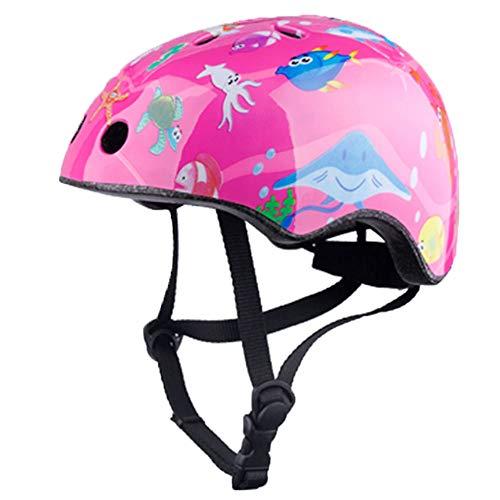 WLJBY Casco da Bici per Bambini, Casco da Moto per Bambino per Ciclismo/Balance Bike/Casco da Bicicletta di Sicurezza Leggero Regolabile per Bambini e Ragazzi, 3-12 Anni Ragazzi Ragazz