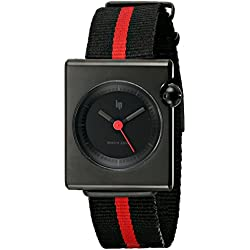 Lip Unisex 1892372 Square Mach Analog Display Swiss Quartz Black Watch