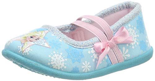 Die Eiskönigin Mädchen Girls Kids Ballerina Houseshoes Niedrige Hausschuhe, Blau (Light Turkish Blue LTB), 26 EU