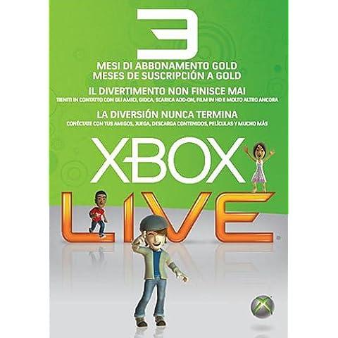 MICROSOFT X360 Live Gold Card 3mesi