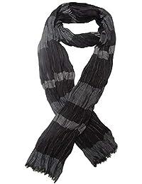 Générique Chèche, foulard, écharpe pour homme ou mixte, noir et gris 180 x  60 cm. Réf … 5b2bf0e3da1