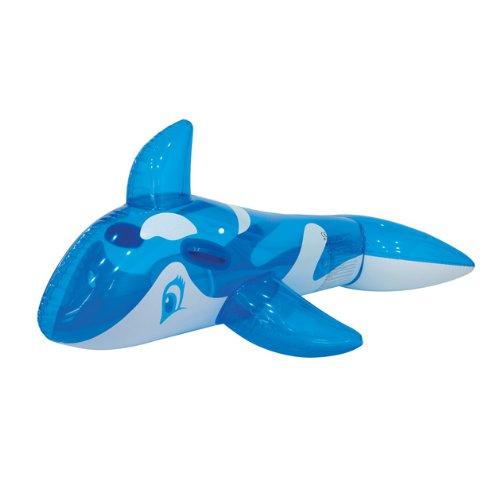 Gardenkraft - gommone gonfiabile a forma di orca, colore: blu trasparente
