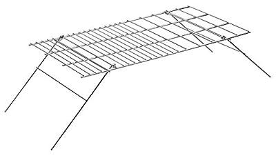 Kompakter Camping Klappgrill / Grillrost aus verchromtem Stahl 61 x 30 cm