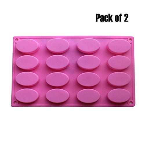 baker-depot-16-fori-ovale-silicone-mold-per-sapone-artigianale-gelatina-candito-budino-rendendo-tort
