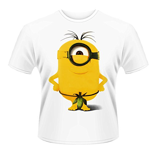 Plastic Head Minions Good to Be King T-Shirt, Blanc, X-Large Homme