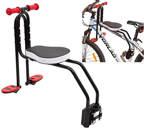 TETAKE Kindersitz Fahrrad, Abnehmbar Fahrradkindersitz Vorne mit Pedal und Griff, Mountainbike Kindersitz Fahrradsitz Kinder für Herrenfahrrädern und Damenrädern